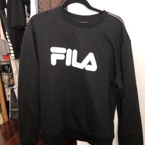 black fila sweatshirt